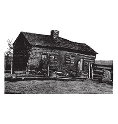 Lincoln home vintage vector