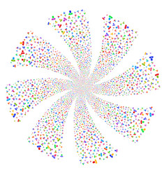 Manager fireworks swirl flower vector