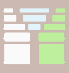 message bubbles icons for chat imessage bubbles vector image