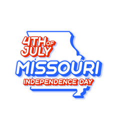 missouri state 4th july independence day with vector image