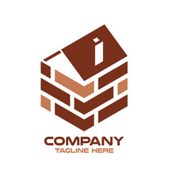 Modern logo real estate and wall vector