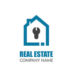 modern real estate logo template creative home vector image