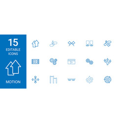 Motion icons vector