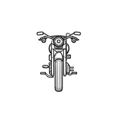 Motorbike hand drawn outline doodle icon vector