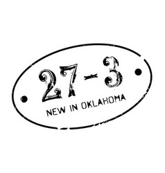 New in oklahoma rubber stamp vector