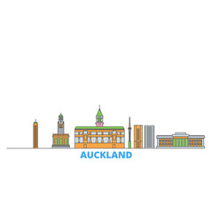 New zealand auckland line cityscape flat vector