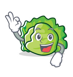 Okay lettuce character cartoon style vector