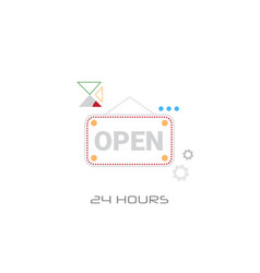 open door text sign shop label shopping concept vector image