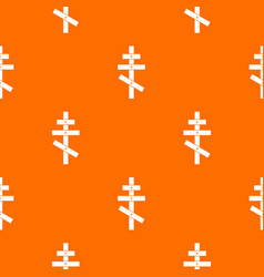 Orthodox cross pattern seamless vector