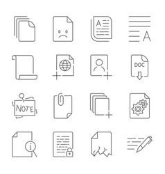 Paper icon document icon editable stroke vector