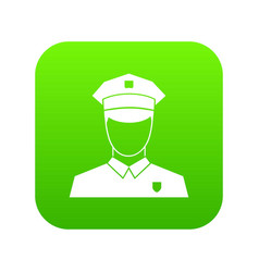 Pilot icon digital green vector