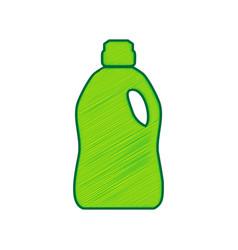 Plastic bottle for cleaning lemon vector
