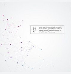 polygonal background with connect dots and lines vector image