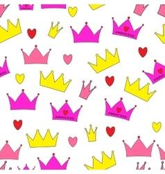 Princess Seamless Pattern Background vector image