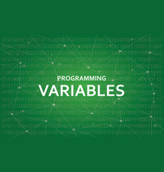 programming variables white text with vector image