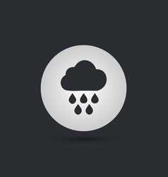 rain single flat icon on white circle background vector image