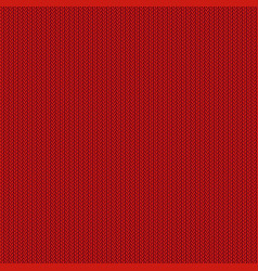 red knitted background vector image