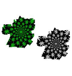 Santa ana city - map is designed cannabis leaf vector