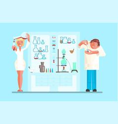 scientist in lab room vector image