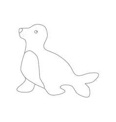 seal outline vector image