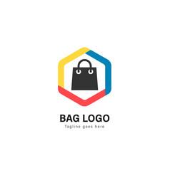 shop logo template design shop logo with modern vector image