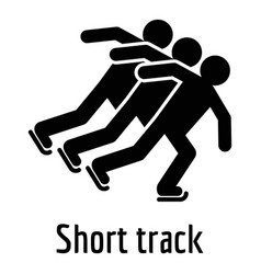 short track icon simple style vector image