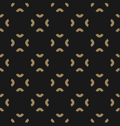 Simple black and gold abstract floral pattern vector