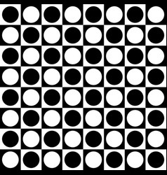 Simple monochrome checkered pattern with circle vector