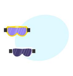 Skiing snowboarding mask goggles eyewear vector