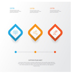 Social icons set collection of publication text vector
