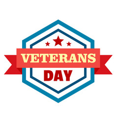 Star veterans day logo flat style vector