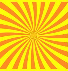 sun rays background yellow orange radiate sun vector image