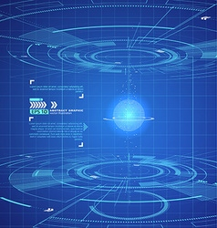 Three-dimensional interface technology science vector image