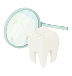 tooth in mirror icon isometric style vector image