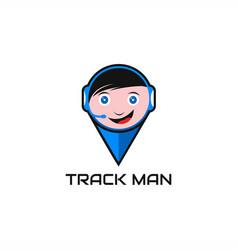 Track man logo vector