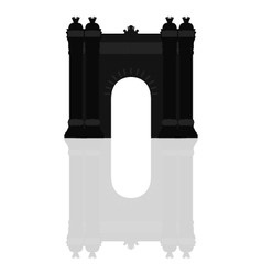 triumphal arch in barcelona vector image