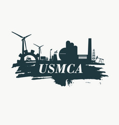 Usmca - united states mexico canada agreement vector