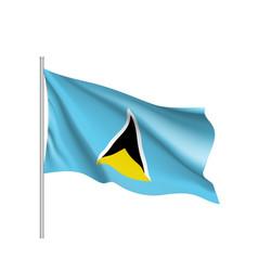 Waving flag saint lucia vector