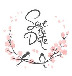 wedding invitation crad vector image