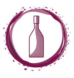 Wine bottle inside the bubble vector