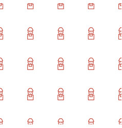Worker icon pattern seamless white background vector