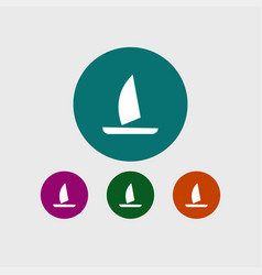 yacht icon simple vector image