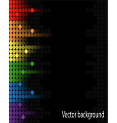 abstract music volume equalizer on black backgroun vector image