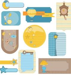 design elements for baby scrapbook - sweet dreams vector image vector image