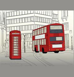 london street vector image vector image