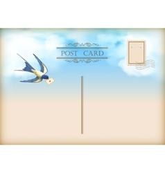 Sky Bird Letter Mail Postcard vector image vector image