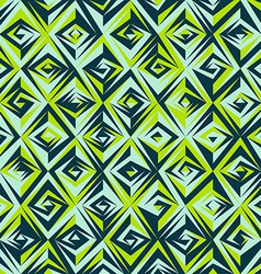 vintage green mosaic seamless pattern vector image