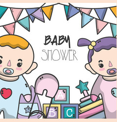 baby shower invitation to celebrate the new family vector image