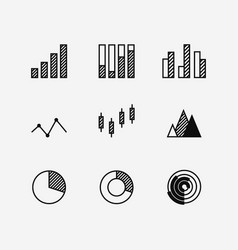 business data graph diagram element vector image