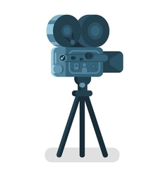 flat style of old cinema camera Icon for online vector image